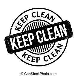tampon, propre, garder