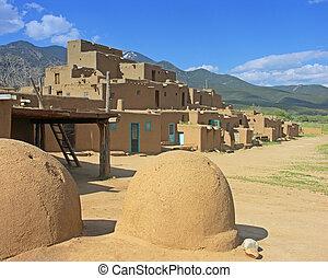 taos, mexique, nouveau, pueblo
