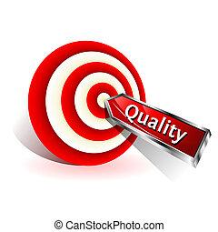 target., concept., signe, frapper, vecteur, dard, qualité, rouges
