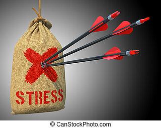 target., tension, succès, flèches, -, marque, rouges