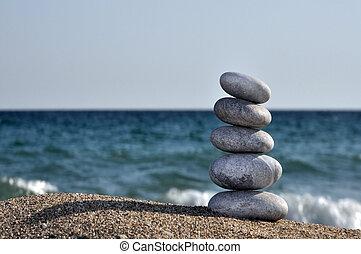 tas, pierres