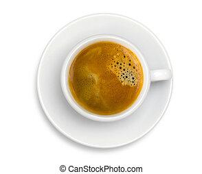 tasse à café, express, isolé, fond, blanc