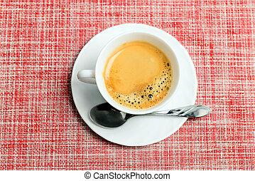 tasse à café, vue dessus