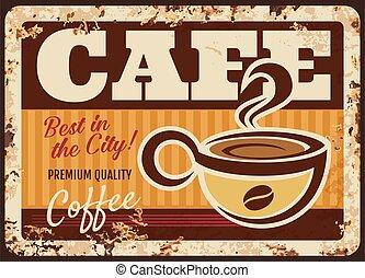 tasse, cuire vapeur, boisson, frais, vapeur, café