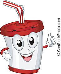 tasse plastique, mascotte