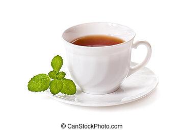 tasse thé, menthe