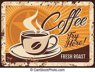 tasse, vapeur, boisson, cuire vapeur, frais, café