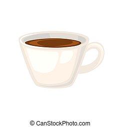 tasse, vecteur, illustration., coffee.