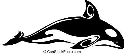 tatouage, baleine