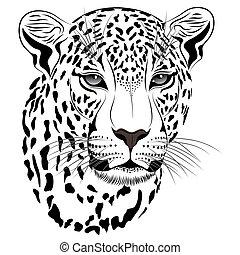 tatouage, léopard