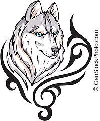 tatouage, loup