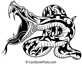 tatouage, serpent