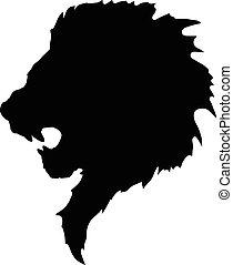 tattoo-2, tête, lion