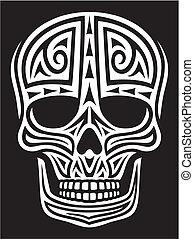 tattoo), ornement, (skull, crâne