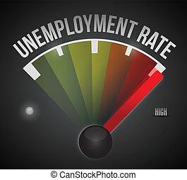 taux, chômage, conception, illustration, niveau