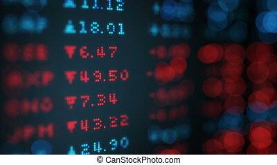 taux change, planche, données, boucle, stockage