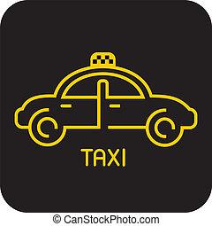 taxi, icône