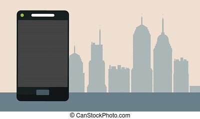taxi, smartphone, service, app, animation, hd
