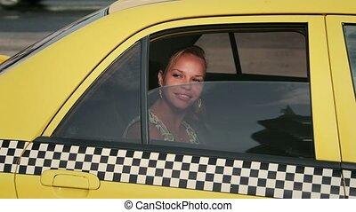 taxi, touriste, voyager