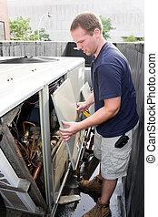 technicien, climatisation, chauffage