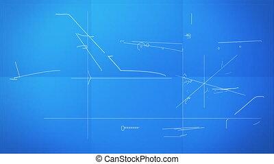 technique, plan, avion