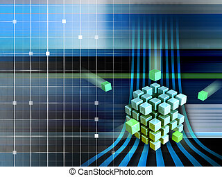 techno, cubes