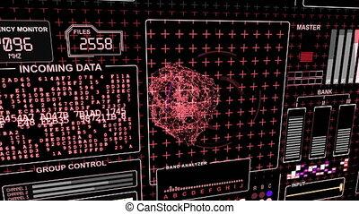 technologie, écran, informatique, interface, données, futuriste