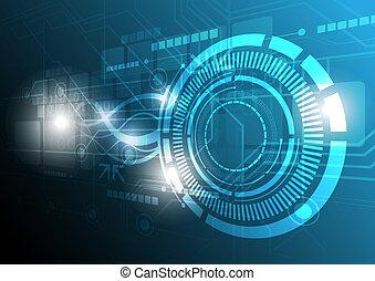 technologie, concept, conception, numérique