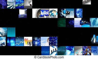 technologie, définition, animation numérique, élevé, collage