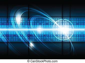 technologie, fond, numérique