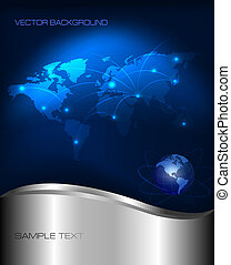 technologie, fond, résumé