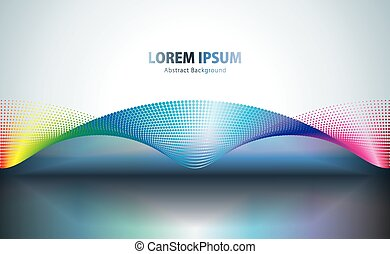 technologie, forme onde, résumé, arrière-plan., points, coloré