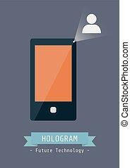 technologie, hologramme