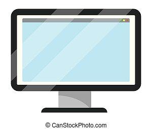 technologie informatique, dessin animé