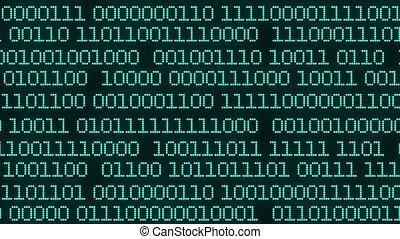 technologie, nombres, zéros, programmation, code, calculer, sécurité, toile de fond, process., ceux, communication., animé, appliqué, pratique, représenter, concept, chiffre, chiffre, binaire