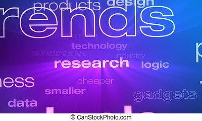 technologie, petit coin, mots, innovation