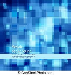 technologie pointe, arrière-plan., résumé, mosaïque