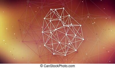 technologie, réseau, fond