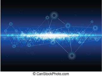 technologie, réseau, fond, numérique