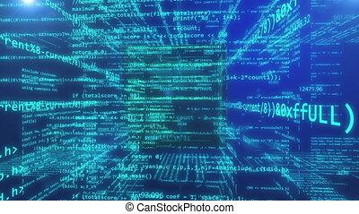 technologie, résumé, code, programmation