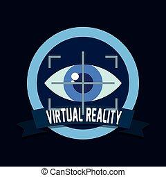 technologie, vue, oeil, réalité virtuelle
