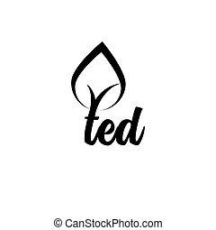ted, vecteur, arbre, lettre, logo