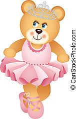 teddy, ballerine, ours