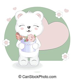 teddy, cadeau, ours