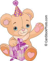 teddy, tenue, ours, cadeau