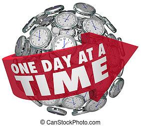 tel, autour de, défi, solidement, flèche, une, sphère, clocks, lentement, mots, temps, en avant!, en mouvement, dépendance, jour, surmonter, illustrer