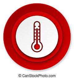 température, signe, icône, thermomètre