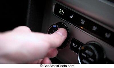 température, voiture, air, ensembles, condition, homme
