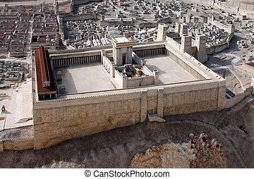 temple., seconde, ancien, jérusalem