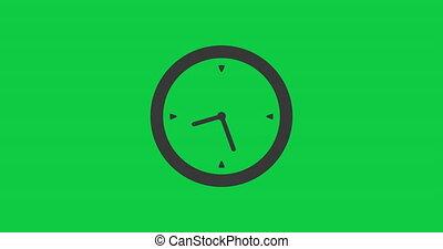 temps, élevé, chroma, icône, flèches, animation., quatre, horloge, fast., key., chronomètre, speed., marche, vingt, vidéo, heures